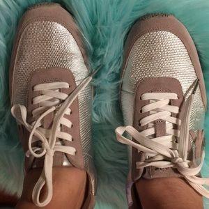 Michael KorsMetallic silver tennis shoes